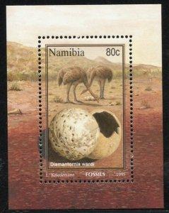 Namibia Scott 782a MVFNHOG S/S - Fossils - SCV $3.00