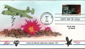 Beautiful Pugh Designed FDC B-24's Hit Ploesti Refineries  #96 of 137
