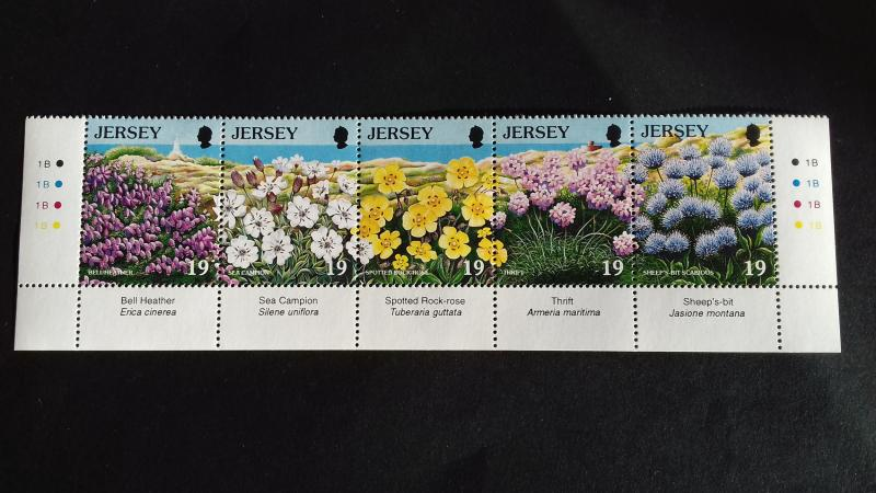 Jersey 1995 European Year of Nature Preservation - Wild Flowers Mint
