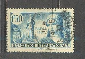 FRANCE Sc# 324 USED FVF Exposition Allegory