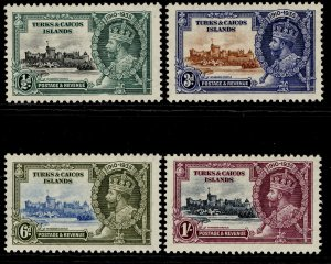 TURKS & CAICOS ISLANDS GV SG187-190, SILVER JUBILEE set, LH MINT.