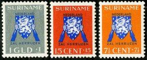 Suriname Stamps # B34-6 VF Used OG Scott Value $33.50