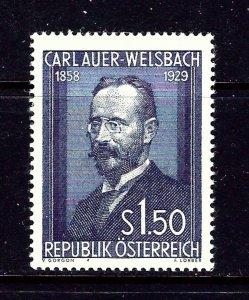 Austria 595 MNH 1954 Carl Auer-Welsbach  #2