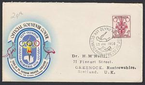 AUSTRALIA 1956 Olympic Games cover commem cancel DIVING / SWIMMING.........54093