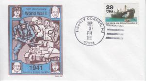 1991 World War II Liberty Ship (Scott 2559h) Gamm UO FDC