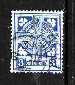 Ireland-Sc#111-used 3p dull blue-Map of Ireland-1941-