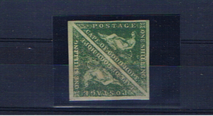 CAPE OF GOOD HOPE SG21 1/- Emerald green pair mint