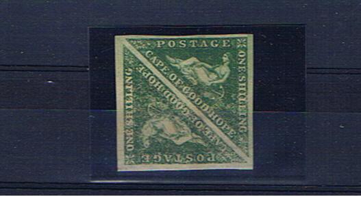 CAPE OF GOOD HOPE SG21 1/- Emerald green pair mint