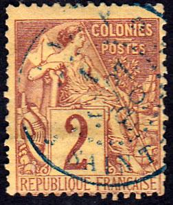 French Colonies Scott 47 Used.