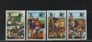 SWAZILAND 628-631 (4) Set, Hinged, 1994 US Peace Corps 25th anniversary
