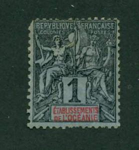 French Oceania 1892 #1 MH SCV(2018)=$1.60