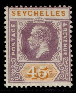 SEYCHELLES GV SG116, 45c dull purple & orange, M MINT.