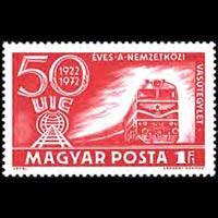 HUNGARY 1972 - Scott# 2177 Locomotive Set of 1 NH