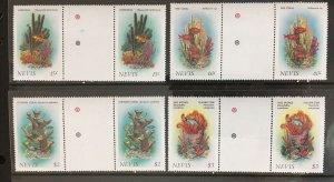 1986 Nevis Sc# 503-6, Coral, Traffic Light Gutter Pairs
