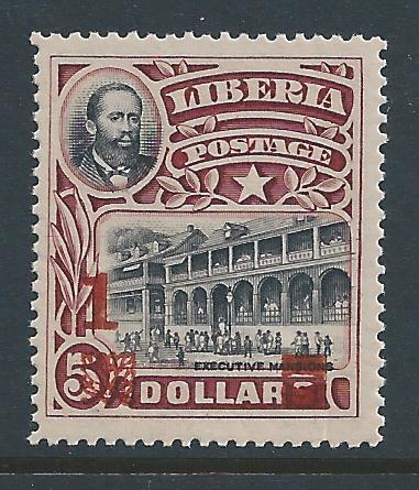 Liberia #149 NH Pres. Barclay, Mansion Issue Surcharged