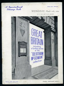 1950 Robson Lowe Specialised Great Britain Auction Catalogue (BK#23).
