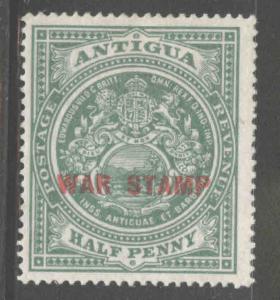 ANTIGUA Scott MR1 MH* 1916 War Tax stamp perf 14