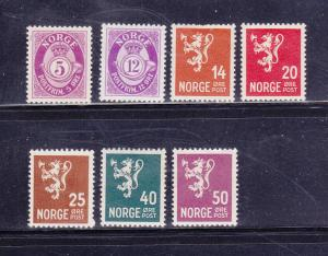 Norway 190, 193-194, 196-197, 200, 201 MHR Varous