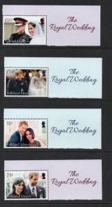 Falkland Inseln 2018 Königliche Hochzeit Set MNH Zustand