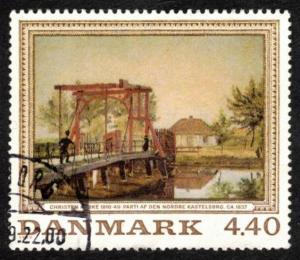 DENMARK 1989 # 881 VERY FINE USED PAINTING CHRISTEN KOBKE