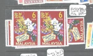 MALAYSIA (P2604B) SG4-5  ORCHID  X 8   MNH
