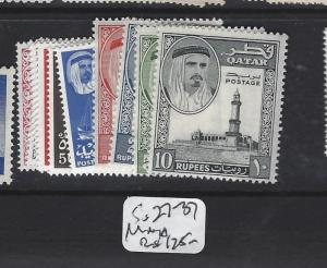 QATAR   (P1908B)  SG 27-37   MNH