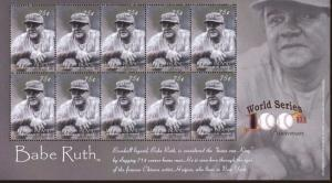BABE RUTH 714 Home Runs!! Sheet of 10 MNH - St.VIncent+Grenadines E50