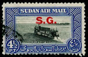 SUDAN SGO64a, 4½p black & steel-blue, FINE USED. Cat £29.