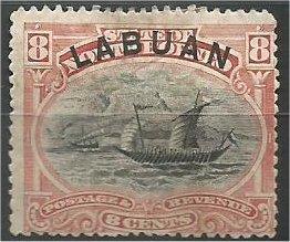 LABUAN, 1894, MH 8c, Dhow  Scott 54
