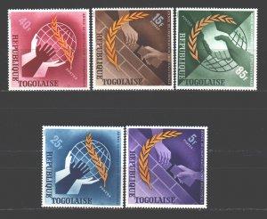 Togo. 1965. 482-86. International Year of Cooperation. MNH.