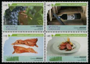 HERRICKSTAMP URUGUAY Sc.# 2448 Exports - Meat and Wine