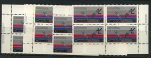 Canada USC #758 Mint 1978 30c Badminton MS of Imprint Blocks VF-NH