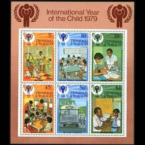 TRINIDAD & TOBACO 1979 - Scott# 307a S/S Children Year NH