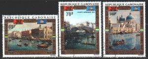 Gabon. 1972. 456-58. Venice in painting. USED.