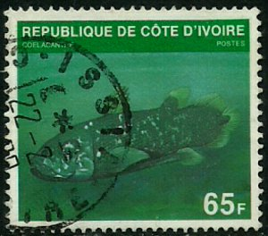 Ivory Coast #521B Used Stamp - Fish (d)