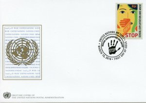 United Nations UN New York 2019 FDC Definitive Sexual Exploitation 1v Set Stamps