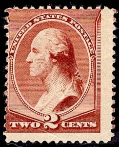 US Stamp Scott #210 MINT Hinged SCV $45