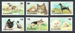 Philippines Cats and Dogs 6v SG#1539-1544 MI#1306-1311