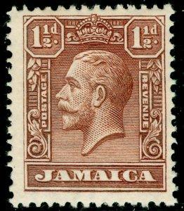 JAMAICA SG109, 1½d chocolate, M MINT.