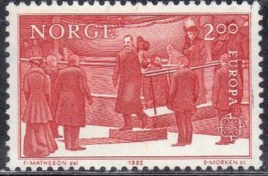 NORWAY  SC# 805 **USED ** 2k  EUROPA  SEE SCAN