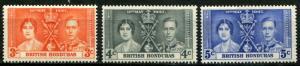 British Honduras SC# 127-8 George VI  Coronation set  MH