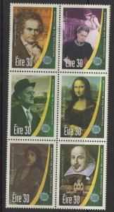 IRELAND SG1315/20 2000 NEW MILLENNIUM (4TH ISSUE) MNH