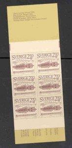 Sweden Sc 1533a 1985 Europa stamp booklet mint NH
