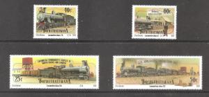 South Africa / Bophuthatswana  (1991)  - Scott # 262 - 265,  Locomotives