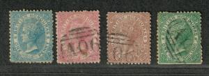 British Honduras Sc#4-7 M+U/F-VF, 4 No Gum, 7 Perf Faults, Cv. $277.50