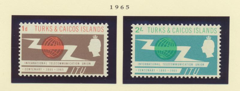 Turks and Caicos islands Scott #142 To 143, Mint Never Hinged MNH, Two Stamp ...