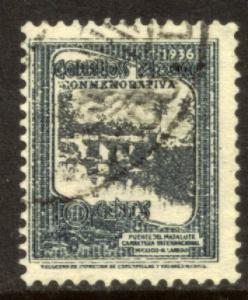 MEXICO 726, 10cents HIGHWAY INAUGURATION, USED. (578)