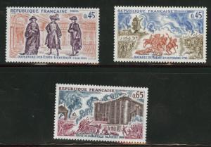 FRANCE Scott 1305-7 MNH** complete 1971 stamp set