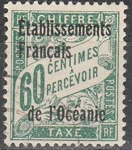 French Polynesia #J6 F-VF Used  CV $3.50 (A16701)