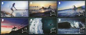 Jersey 2021 MNH Sports Stamps Surfing Landscapes Beaches 6v Set